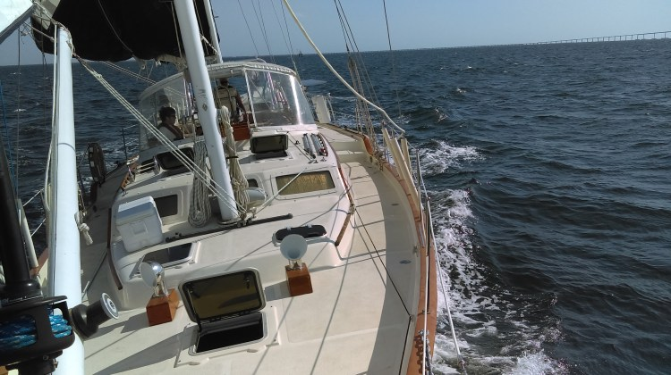 During Our First Real Sailing Trip This Week, We Started Taking on Water!