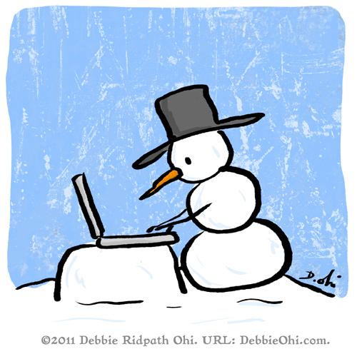 Comic Caption Challenge: Snowman Writer