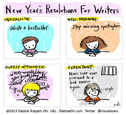 Comic: Writers' Resolutions