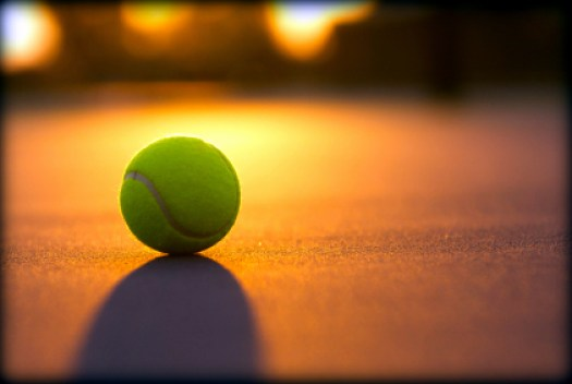 Tennis Ball at Sunset