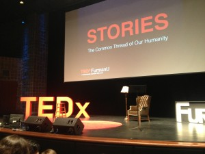 Furman Stories TEDx stage