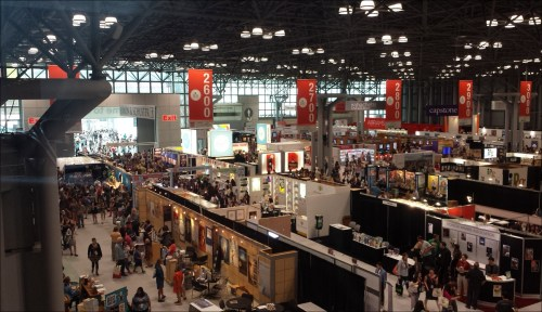 The southern end of the BookExpo America 2015 (BEA) exhibition hall at the Javits Center. Image: Porter Anderson