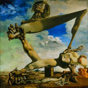 "Salvador Dali ""Soft Construction with Boiled Beans (Premonition of Civil War)"" 1936"