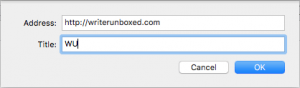 Adding URL Mac