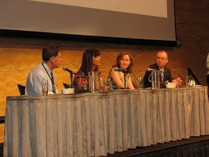 panelists at a conference