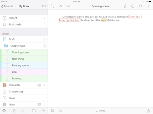 iOS Binder and document