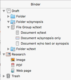 illustration of various file icons on a Mac