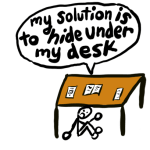Hide under desk drawing