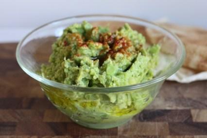 healthy hummus-guacamole dip recipe | writes4food.com
