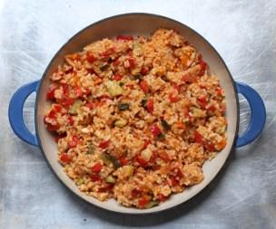 Spanish vegetable rice pilaf recipe | writes4food.com