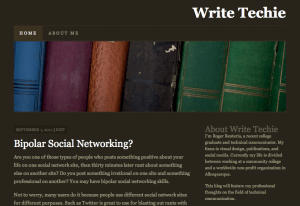 WriteTechie - Brown Theme Color