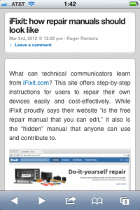 WriteTechie Article on mobile view