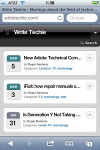 WriteTechie Mobile Site