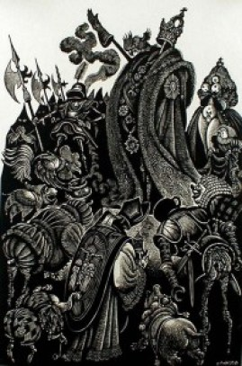 The-Follies-of-the-Court-from-In-Praise-of-Folly-Portfolio-of-10-woodcuts-by-Fritz-Eichenberg