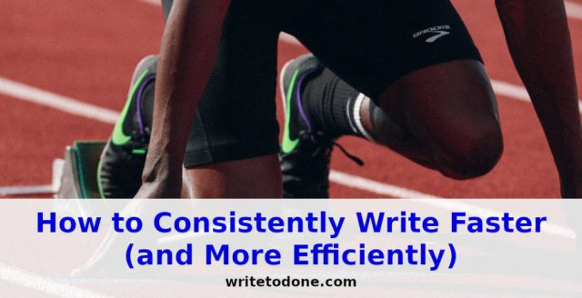 how to consistently write faster - sprinter