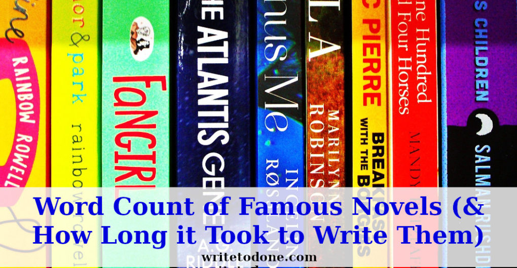 word count of famous novels - best sellers