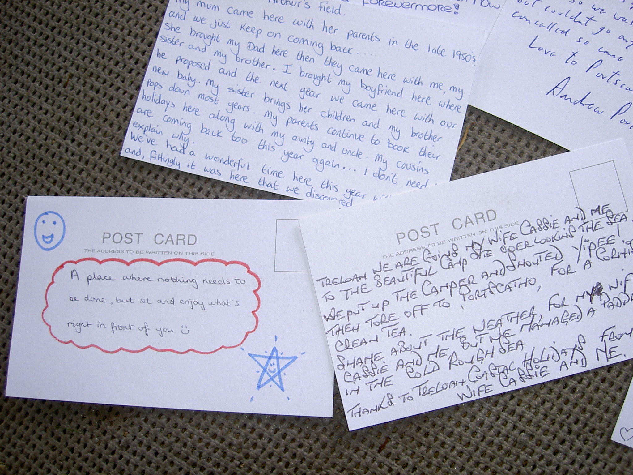 Postcards posted to Portscatho