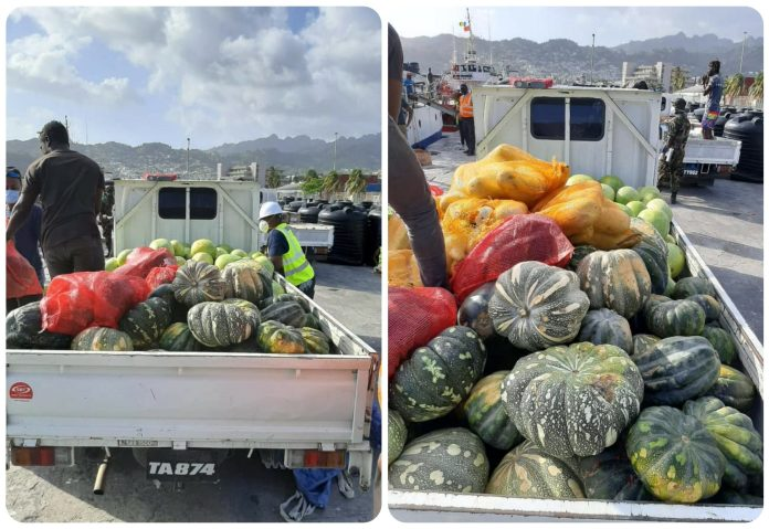 The vessel,'Miss Meena,'travelled from Georgetown to the islands with several tons of relief items