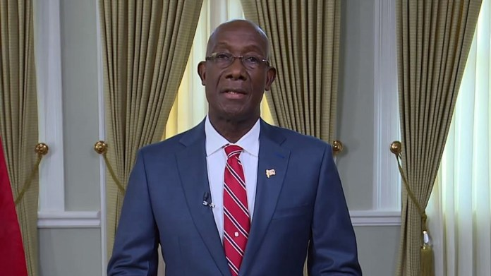 PM Rowley paid his greeting on