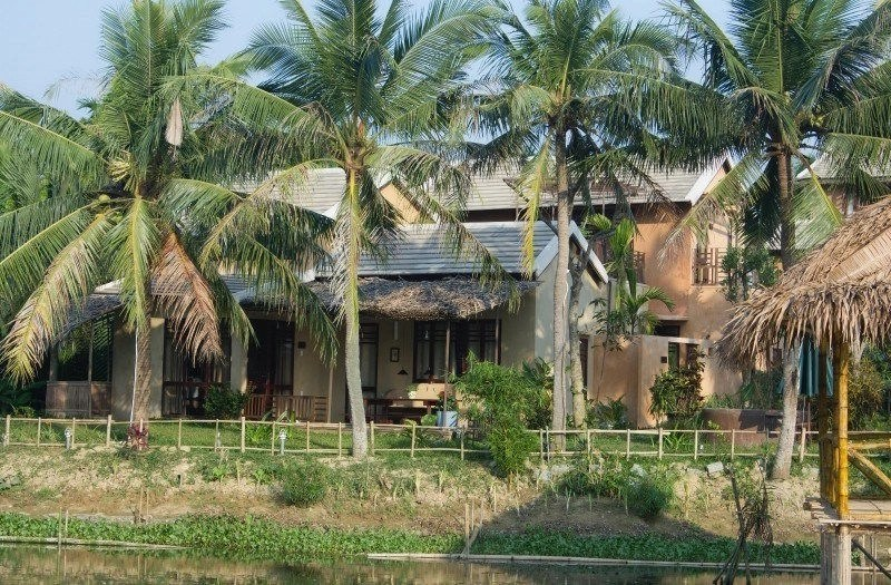 Vietnam Writing Retreat - Write Your Journey: An Villa Hoi An, view from the yoga shala on the river.