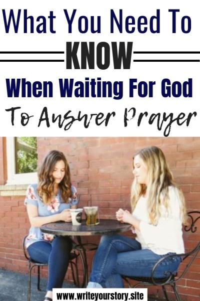 prayer / waiting season / trusting Jesus