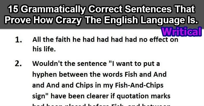 15 English sentences that will make you go crazy about