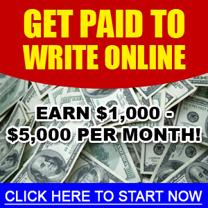 GET PAID TO WRITE AT HOME 2 HOURS A DAY! 1
