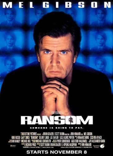 Ransom 1996 movie poster-Mel Gibson