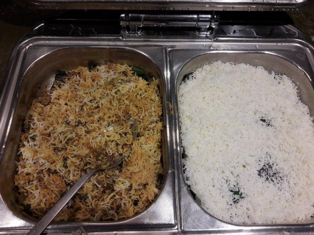 Veg Biriyani, Plain White Rice