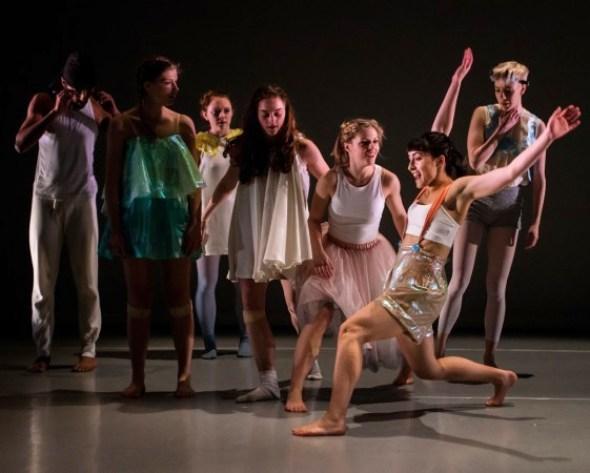 All seven dancers in Sally Marie's I am 8 (photo: Chantal Guevara)