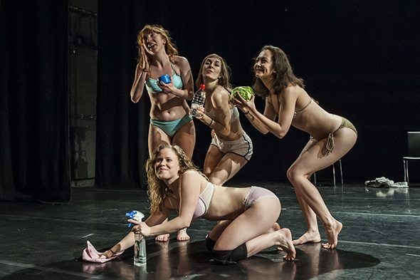 Gracefool Collective undressed in This Really Is Too Much (photo: Lidia Crisafulli)