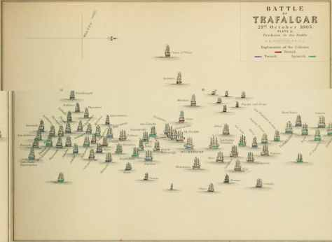 Battle of Trafalgar Plate 2 By Alexander Keith Johnston (Atlas to Alison's History of Europe (1848).) [Public domain], via Wikimedia Commons