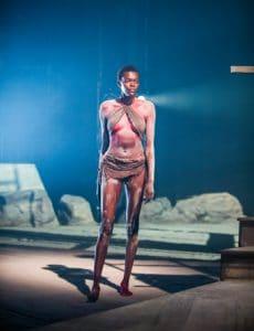 Sheila Atim (Woman) in Les Blancs by Lorraine Hansberry @ Olivier, National Theatre. Directed by Yael Farber. (Opening 30-03-16) ©Tristram Kenton 03/16 (3 Raveley Street, LONDON NW5 2HX TEL 0207 267 5550 Mob 07973 617 355)email: tristram@tristramkenton.com