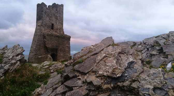 Aberystwyth Castle, Sunset