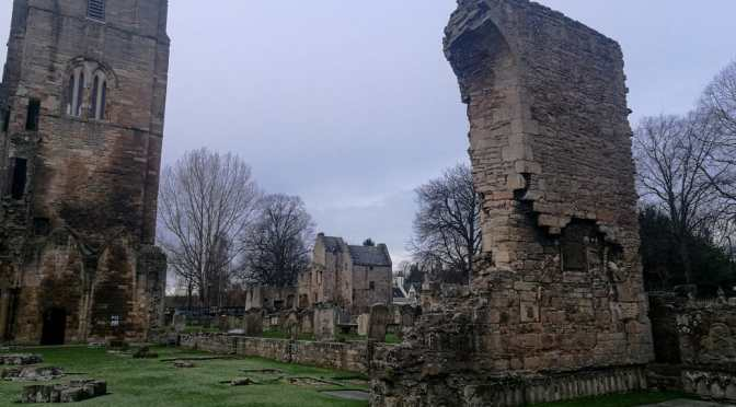 Elgin Cathedral, its Memento Mori and strange beasts