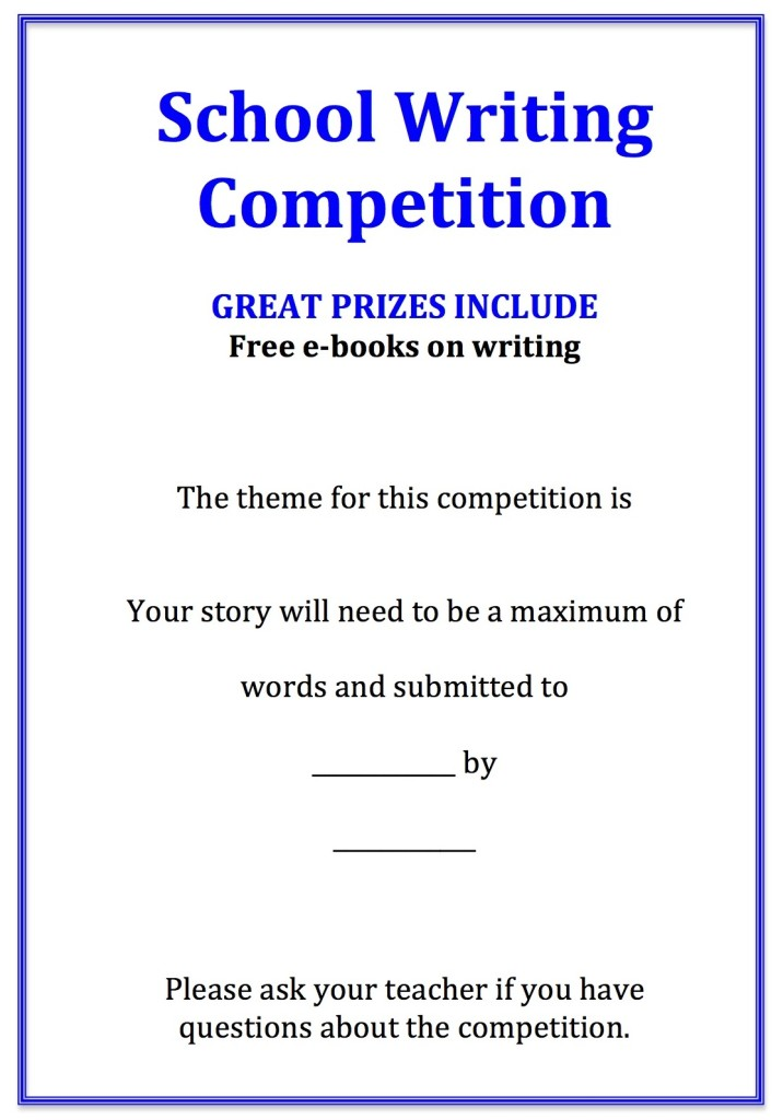 Writing Competition Flier
