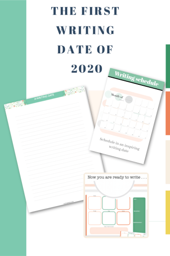 Free printable for the month, the week and a sheet to write. 2020