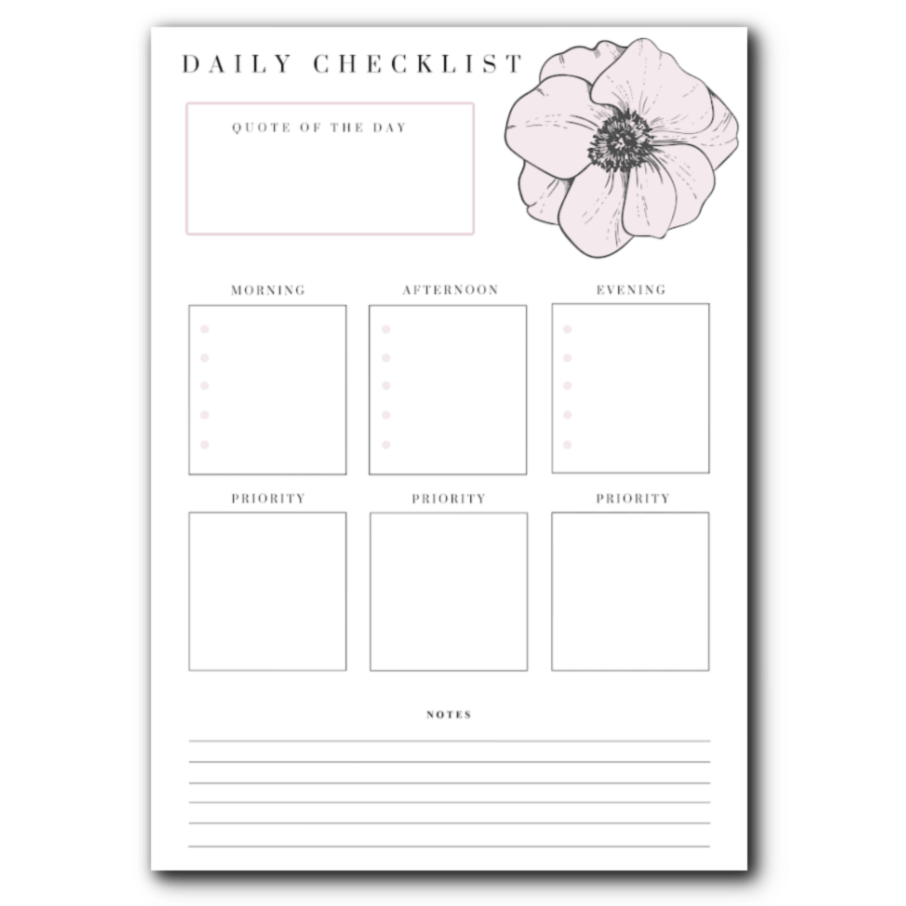 mid year planning and FREE planner pages - daily planner page