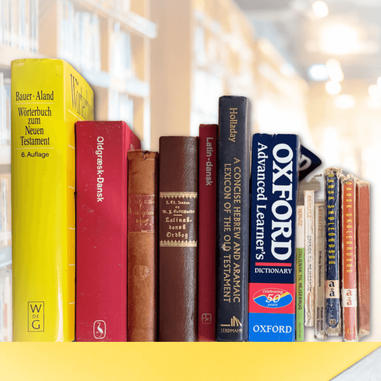 Start a home library dictionaries