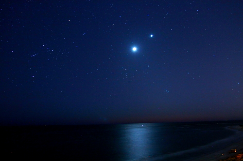 moonset florida beach