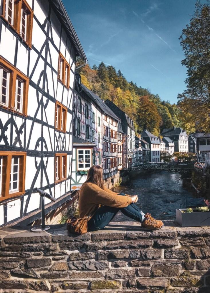 Me sitting on a bridge in german town