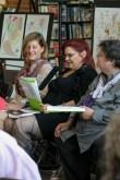 Meg, Elaina, Angie at Burlington Book Festival, 9-14