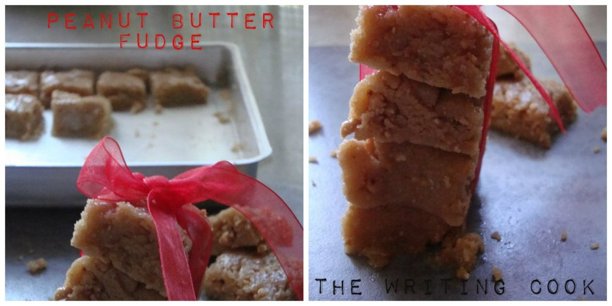 The Writing Cook: Peanut Butter Fudge {No Stove Method}