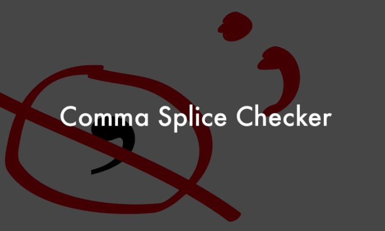fixing Comma Splice