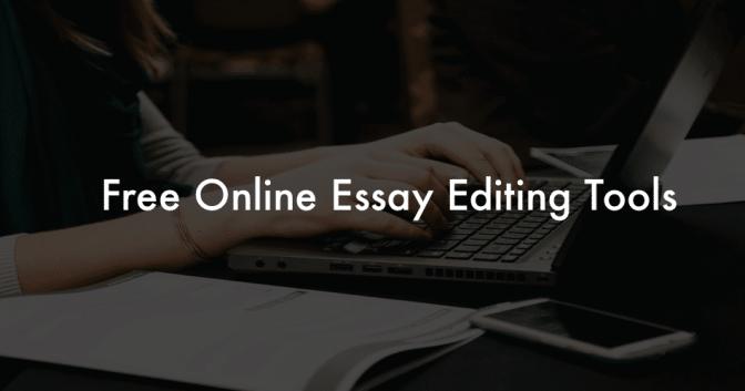Online Essay Editor