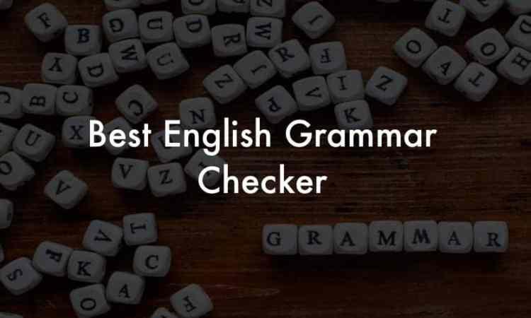 English grammar checker