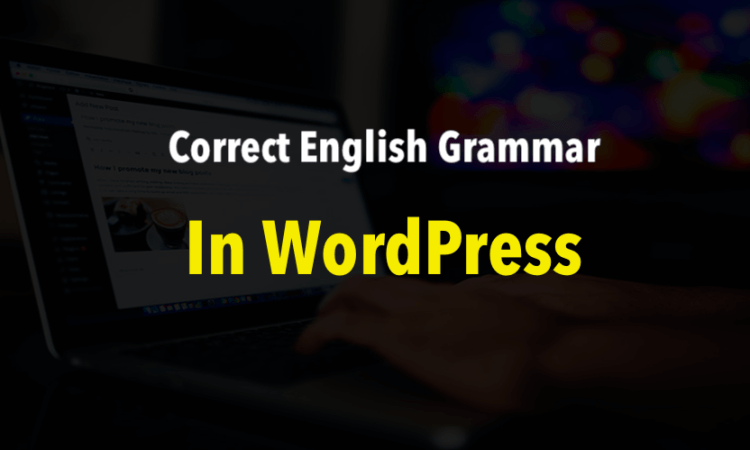 Correct English Grammar in WordPress