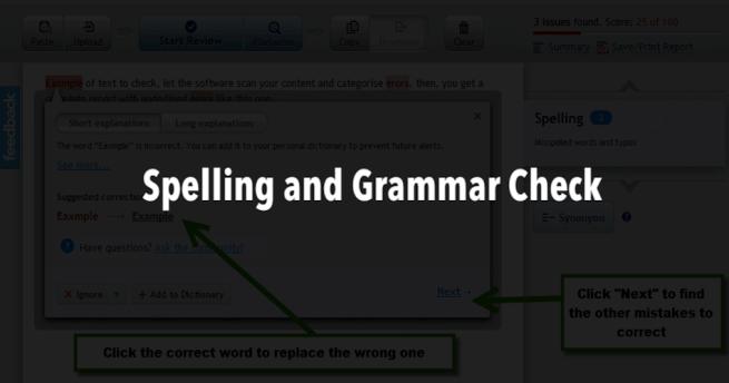 grammar and spell checker