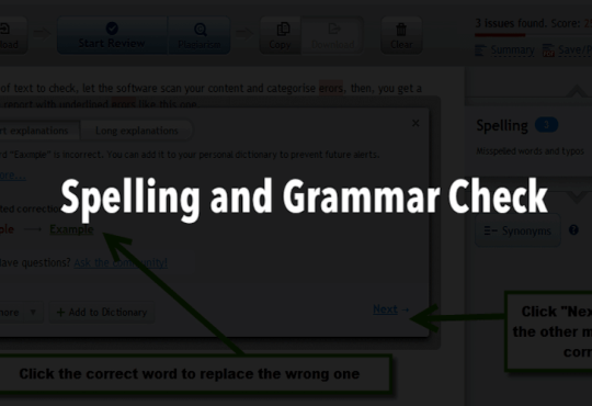 grammar and spell checker