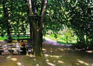 Apollinaris-M-Vasnetsov-xx-In-the-shade-of-linden-trees-Demyanovo-1907-xx-Unknown